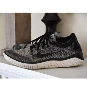 Nike Free RN Flyknit Oreo Athletic Running Shoes